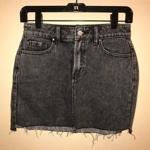 NWOT Black Denim Skirt